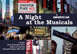 Night at the Musicals - flyer